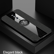 Phone Case for OPPO Reno Z Reno 10x Zoom Case Cover Magnetic Ring Holder Fabric Hard Back Coque Soft Frame Cloth for OPPO Reno