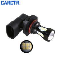 CARCTR 2 PCS New Car Led Fog Lights Bulbs 9005 9006 H10 3030 18smd 6000K LED Bulbs Super Bright Fog Lamps Car Accessories