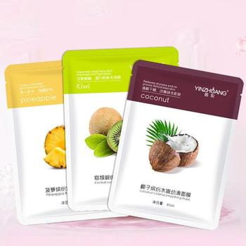 1/9 Sheet Face Mask Natural Fruit Extracts Hyaluronic Acid Masks Whitening Anti Aging Korean Masks Skin Care