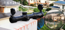 Marcool 1-6×24 IR Riflescope Adjustable Red Dot Hunting Light Tactical Scope Reticle Optical Rifle Fast Focus
