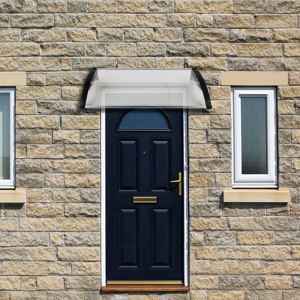 100 X 80 Household Application Door & Window Rain Cover Eaves Canopy White & Black Bracket