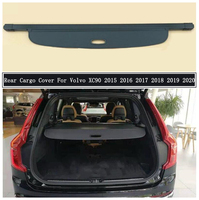 Rear Cargo Cover For Volvo XC90 2015 2016 2017 2018 2019 2020 + Partition Curtain Screen Shade Trunk Security Shield Accessories
