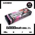 Gaoneng 7 6 V 6000mAh 100C 2S HV 4 35 V аккумуляторная батарея Lipo T Разъем для RC HPI HSP 1/8 1/10 багги RC автомобиль грузовик осевой Scx10