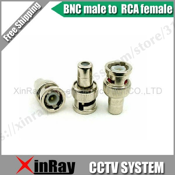 Free Shipping ,High Qality 20pcs,BNC Male To RCA Female Adapter Bnc Connector ,CCTV Camera Accessories Wholesale XR-AC10.