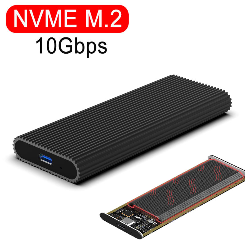 Case NVME M.2 Ssd Case Type-c Port USB 3.1 SDD Enclosure 10Gbps NGFF SATA 6Gbps Transmission Hard Drive Enclosure HDD Cases