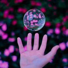 80mm Magie Kristall Ball Quarz FengShui Fotografie Glas Kugel für Dekoration Mode