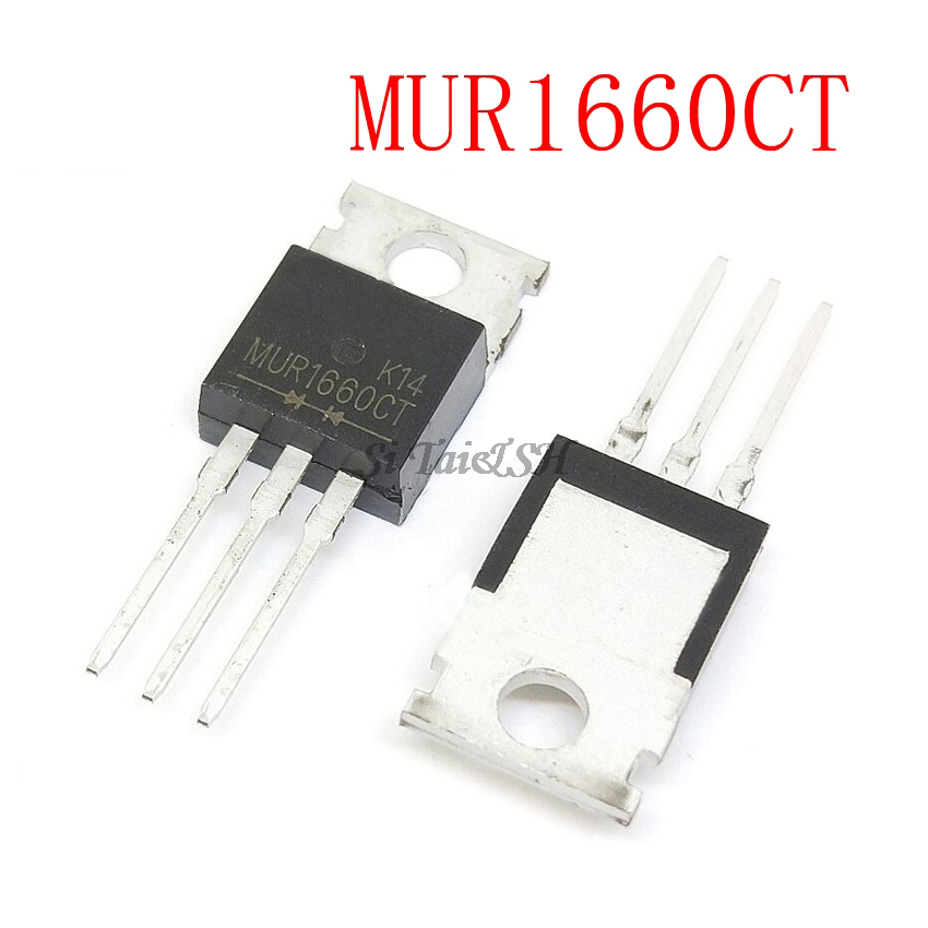 10 Uds MUR1660CT-200 MUR1660 TO220 U1660G 600V 16A nuevo original
