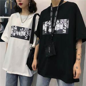 Мужская футболка с коротким рукавом Naruto, летняя футболка унисекс с забавным принтом в японском стиле, уличная футболка большого размера