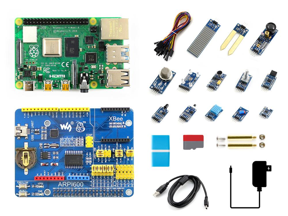 Raspberry Pi 4 Model B Sensor Kit, With 13 Popular Sensors