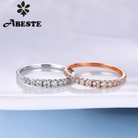 ANI 18K White/Rose Gold (AU750) Wedding Ring 0.24 CT Gold Rings anillos mujer Wedding Band Real Natural Diamond Ring for Women