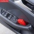 Цветные стеклоподъемные пуговицы из углеродного волокна рамка 6 шт. для Audi A3 8V 2014-2018 LHD ABS Автомобильная дверь ящик для хранения Крышка отделк...