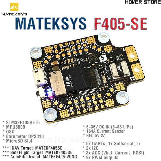 Matek CONTROLADOR DE VUELO F405 SE F405 SE, Sensor de corriente F4 para F405 CTR, mulicóptero RC actualizado, STM32F405RET6 OSD 5V/2A BEC