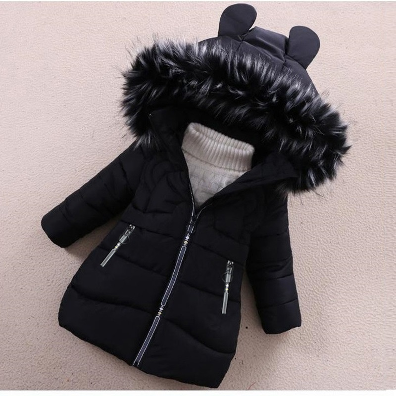 Image 3 - Girls Down Jackets Baby Outdoor Warm Clothing Boys Thick Coats Windproof Children's Winter Jackets Kids Cartoon Winter Outerwear-in Down & Parkas from Mother & Kids