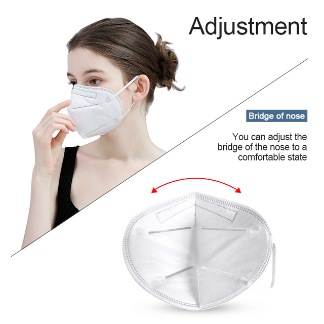 KN95 PM2.5 Anti Dust Mask Activated Carbon Filter Mouth Face Mask N95 FFP2 FFP3 Mouth-muffle Bacteria-proof Masks N95 Respirator 4
