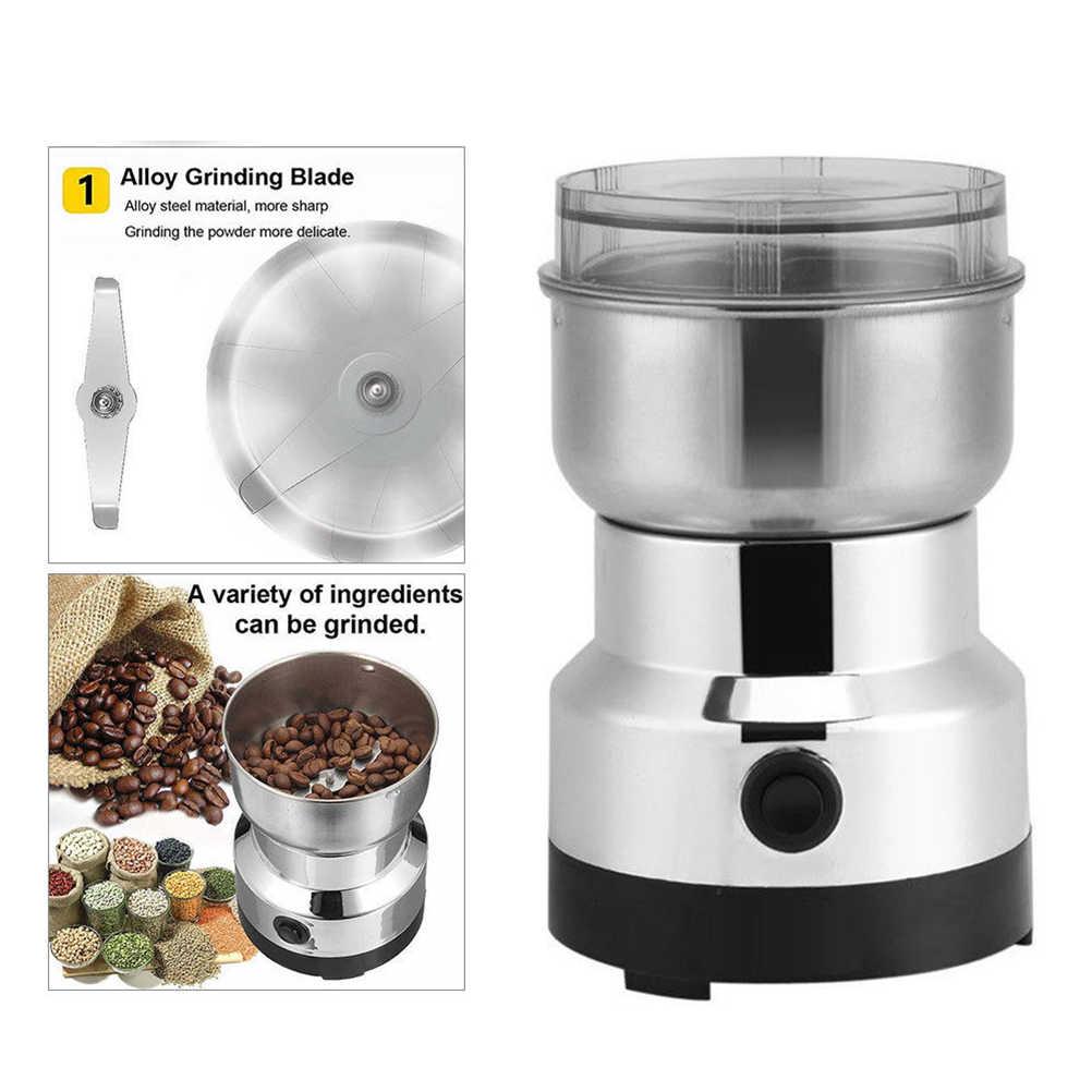 Электрическая кофемолка для специй, с лезвиями из нержавеющей стали, для дома, кухни, с вилкой США/Великобритании/Австралии