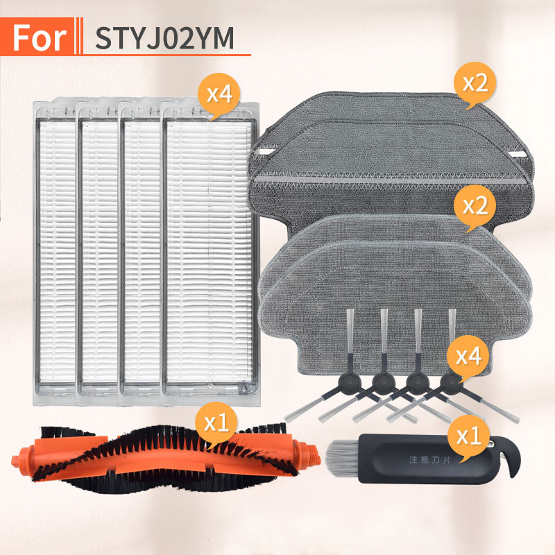 Robot Vacuum Cleaner main brush Hepa Filter mop cloths clean tool for xiaomi mijia STYJ02YM parts Conga 3490 V2 PRO V-RVCLM21B