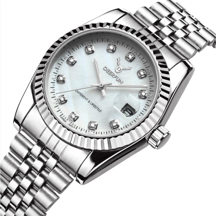 Switzerland Oyster Perpetual Rolexable Datejust MIYOTA Quartz Classic Business Gold Shell Diamond Surface Watch Waterproof