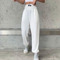 Women Elastic Waist Full Length Casual Harem Pants Spring Autumn Hight Waisted Sweatpants Loose Joggers Pants Trousers Femme