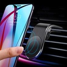 Ventouse magnétique voiture montée Support de téléphone portable sortie dair Support de téléphone voiture pour Support de navigateur Support monté sur voiture en métal