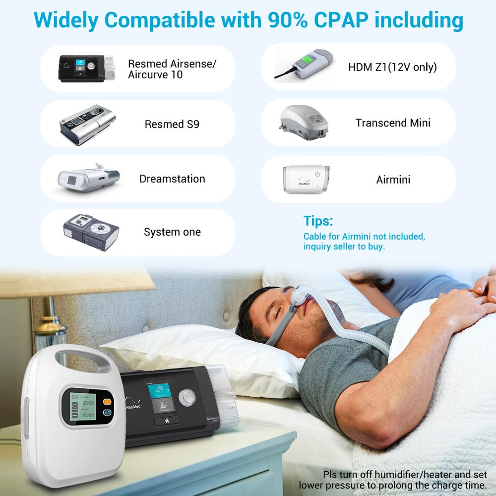 MAXOAK CPAP Battery Backup CPAP Power Bank For Airsense 10 Resmed S9 Philip REMstar System One 60 50 Dreamstation Z1 Aircurve