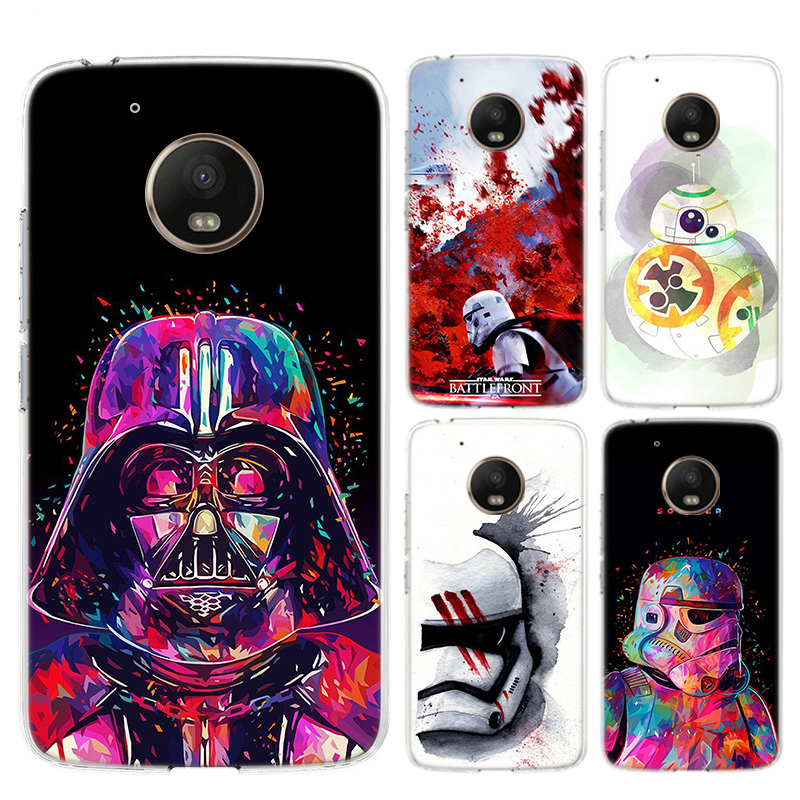 Star Wars Painted Bumper Fashion Soft Comic Phone Case For Motorola MOTO G7 G6 G5S G5 E6 E5 E4 Plus G7 Power G4 Play Cover