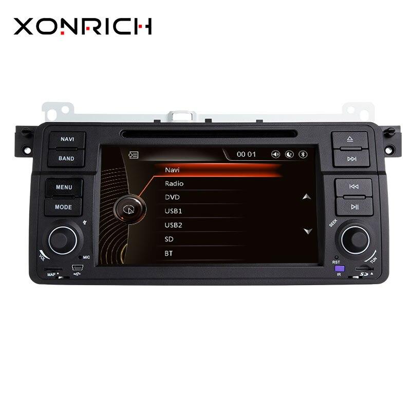 Xonrich1 Din autoradio GPS Navigation pour BMW E46 M3 Rover 75 coupé 318/320/325/330 DVD lecteur multimédia unité de tête stéréo Audio