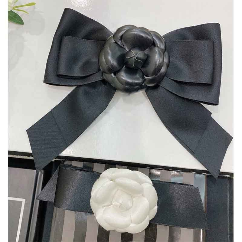 Clips Women Hair Black Bowknot Runway Desinger 3-D Flower Classical Bowknot Fahion Clips Hair Accessories Two Types