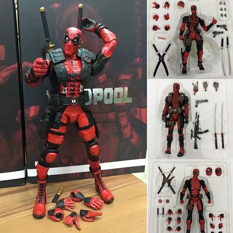 Deadpool – figurine d'action Revoltech Yamaguchi, jouets de super-héros Revoltech pour garçons, poupée pour enfants, cadeau