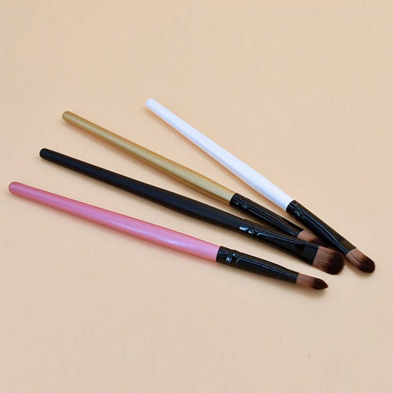 1Pc Oogschaduw Poeder Make-Up Kwasten Blending Concealer Borstels Wol Fiber Lippen Borstel Foundation Duurzaam Soft Makeup Tools TSLM1