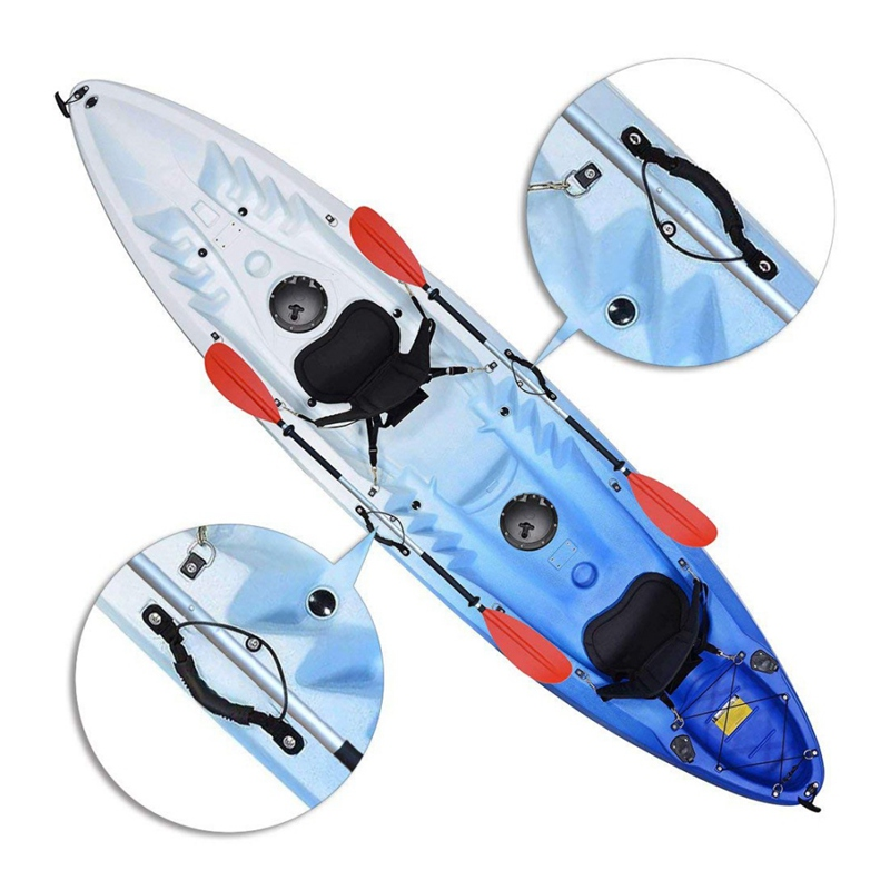 2Pcs Set Kayak Canoe Handles Boat Side Mount Carry Handle with Bungee DIY Canoe Accessories Kayak side CY02 in Rowing Boats from Sports Entertainment