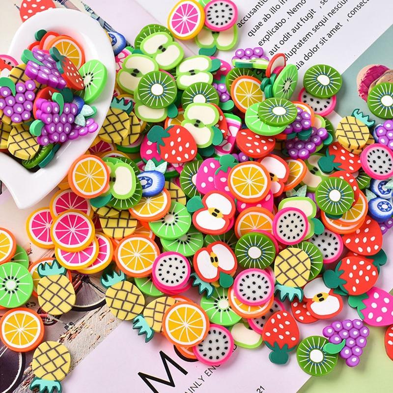 5000 Uds Lizun fruta DIY Fimo encantos para los niños arte artesanía juguetes suministros arcilla polímero claro rociadores masilla uñas artesanías Pintura de diamante ZOOYA, imágenes de mosaico de bordado de diamantes redondos, 5d pegatinas de pared, artesanías de mariposa, Ángel, Luna, regalos R285