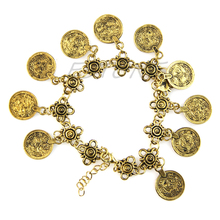 Silver Coin Anklet Bracelet Scourge Ethnic Tribal Festival