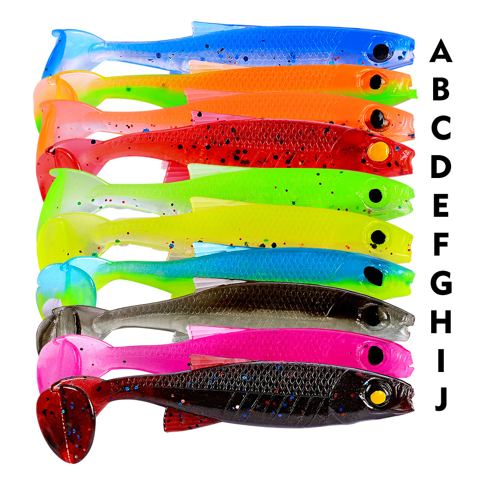 New Soft Plastic Lure Set 7cm Noeby Lure 2.5g Fishing Bait 2019 Isca Artificial Fish Food 10 Items A Pack Colorful Vobler