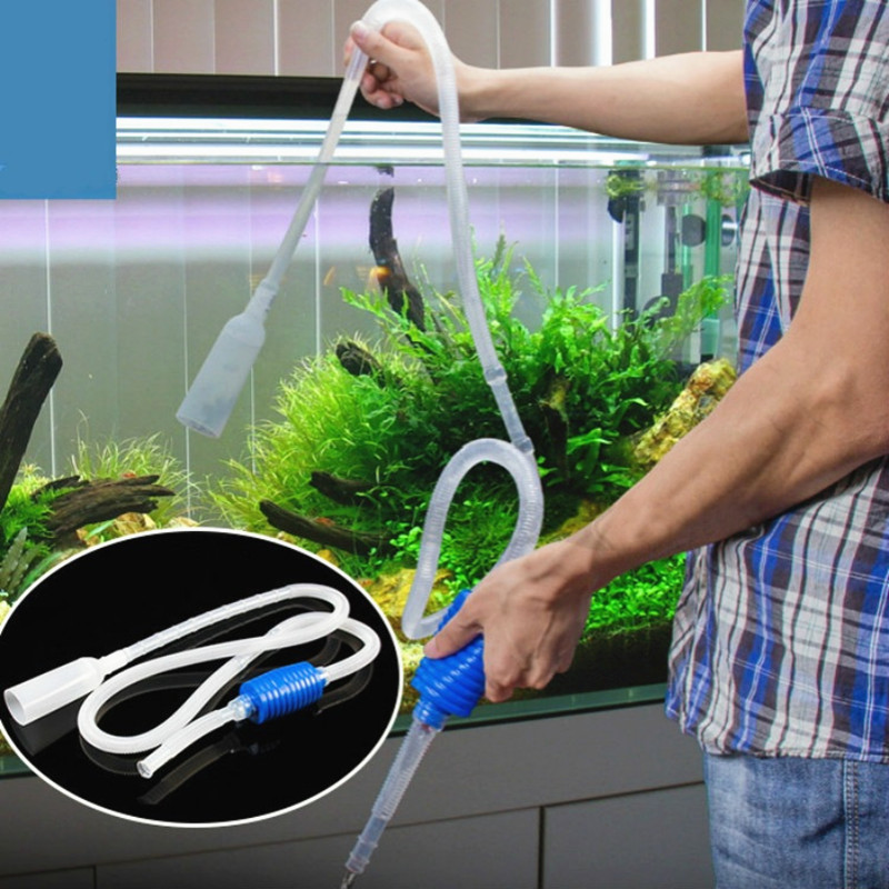 Аквариумный аквариум для рыб, пылесос, щебень, фильтр для воды, очиститель, сифон, всасывающая труба, фильтр, насос, ручной очиститель, безопасный вакуумный насос