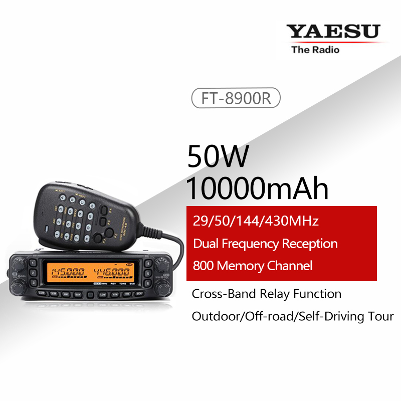 General YAESU FT-8900R FT 8900R Professional Mobile Car Two Way Radio / Car Transceiver Walkie-Talkie Interphone