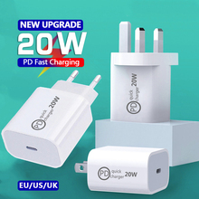 For iPhone 12 x Charger 20w PD Fast Charger Quick Charging