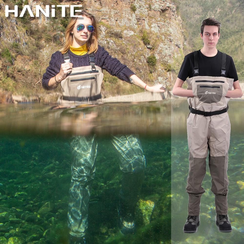 HANITE néoprène bas pied poitrine Wader pour Rafting et chasse et marais camp boueux, imperméable et respirant Wader de pêche
