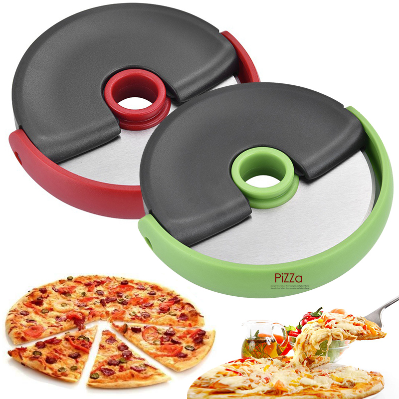 1pcs Pizza Cutter Stainless Steel Round Shape Pizza Cutter Cake Bread Round Cutting Slicer portable Kitchen Gadget