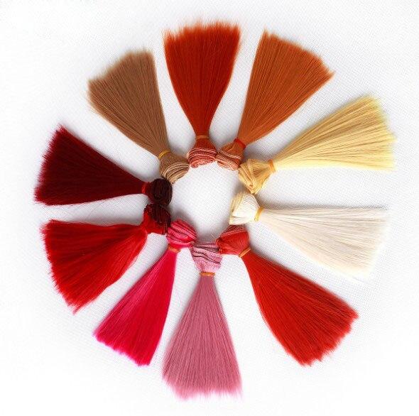 5pcs/lot  15cmx100cm BJD doll wig hair straight wigs hair--21colors option 3