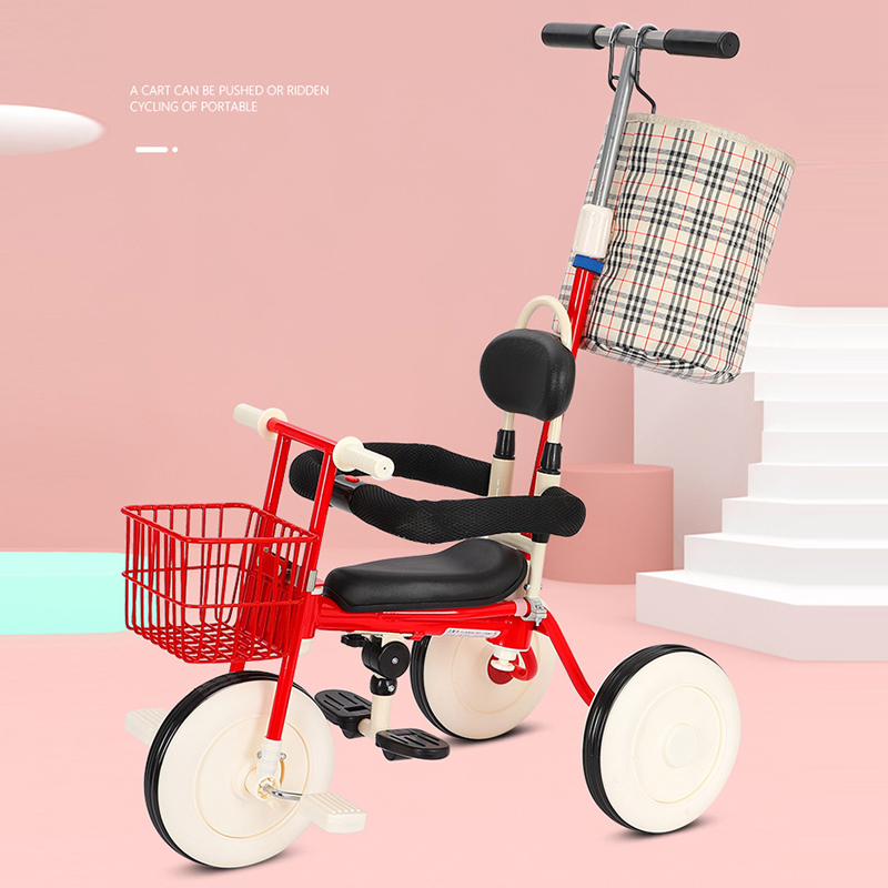2 In 1 Multifunctional Children Tricycle Baby Stroller Lightweight Baby Carriage Three Wheel Bikes Travelling Simple UmbrellaCar