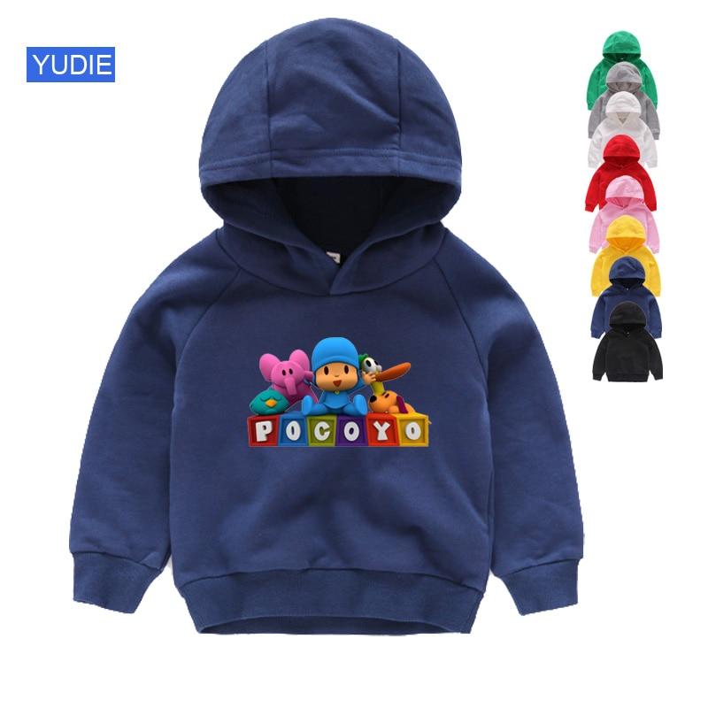 Детские толстовки, детский топ pocoyo, свитшоты Catoon, детский хлопковый пуловер, весенняя одежда для девочек и мальчиков, детский хлопковый топ ...