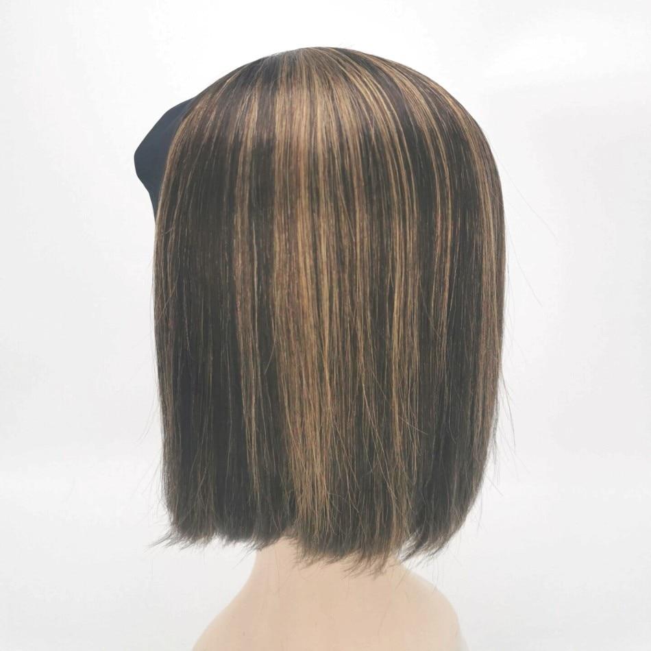 Brazilian Short Straight Headband Wig Bob Remy Human Hair Wigs Cuticle Aligned Virgin Hair