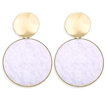 Geometric Shell Earrings For Women Earrings Jewelry Women Jewelry Metal Color: CS566020