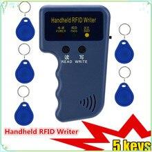 EM4100 125 кГц Ручной RFID Писатель портативный программист копир T5577 5200 EM4305 реплицируемый ID брелок идентификационная карта