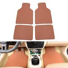 4Pcs Universal Car Floor Mats Carpet Mats Waterproof Anti dirty Floor Mats Auto Soft Interior Accessories for Four Seasons