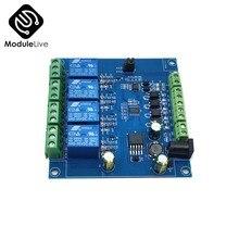Module relais modbus-rtu 4 bits, commutateur, entrée et sortie de Signal, contrôleur TTL RS485 MCU pour détection numérique, contrôle de puissance