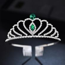 Wedding Headdresses Kids Crown Childrens Headband Princess Tiara Bridal Hair Combs Jewelry Diadem for Girls Accessories