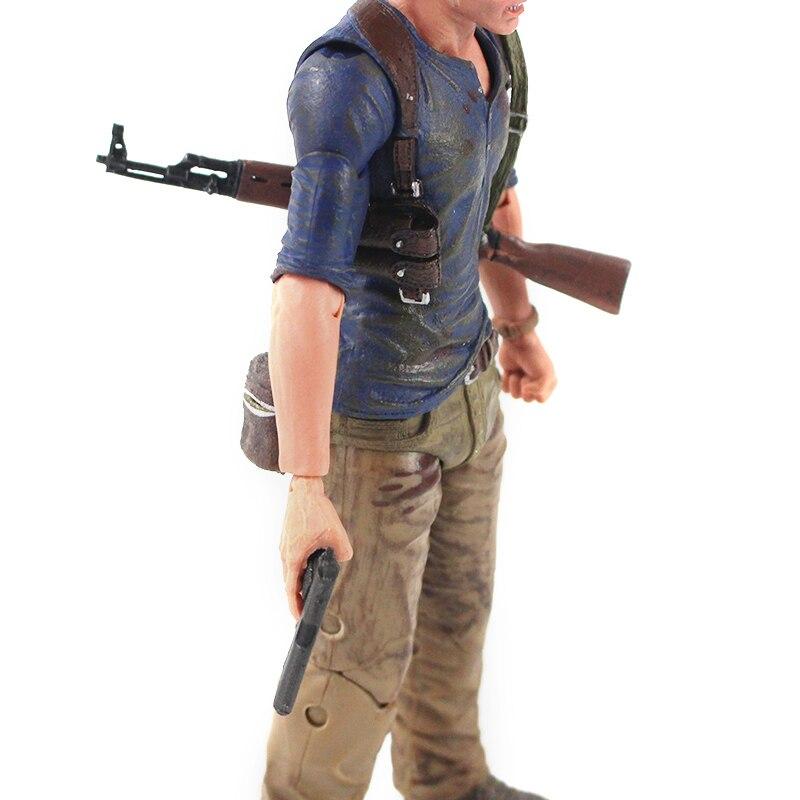 Hc555b63e9df74efe926b8bfeb0e8bcbcD Action Figure Uncharted 4 nathan drake arma edição final figura de ação brinquedo de modelo colecionável