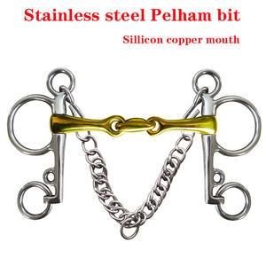 Horse-Bit. with Elliptical-Link BT0717 Mouthpiece Sillicon Copper Sillicon