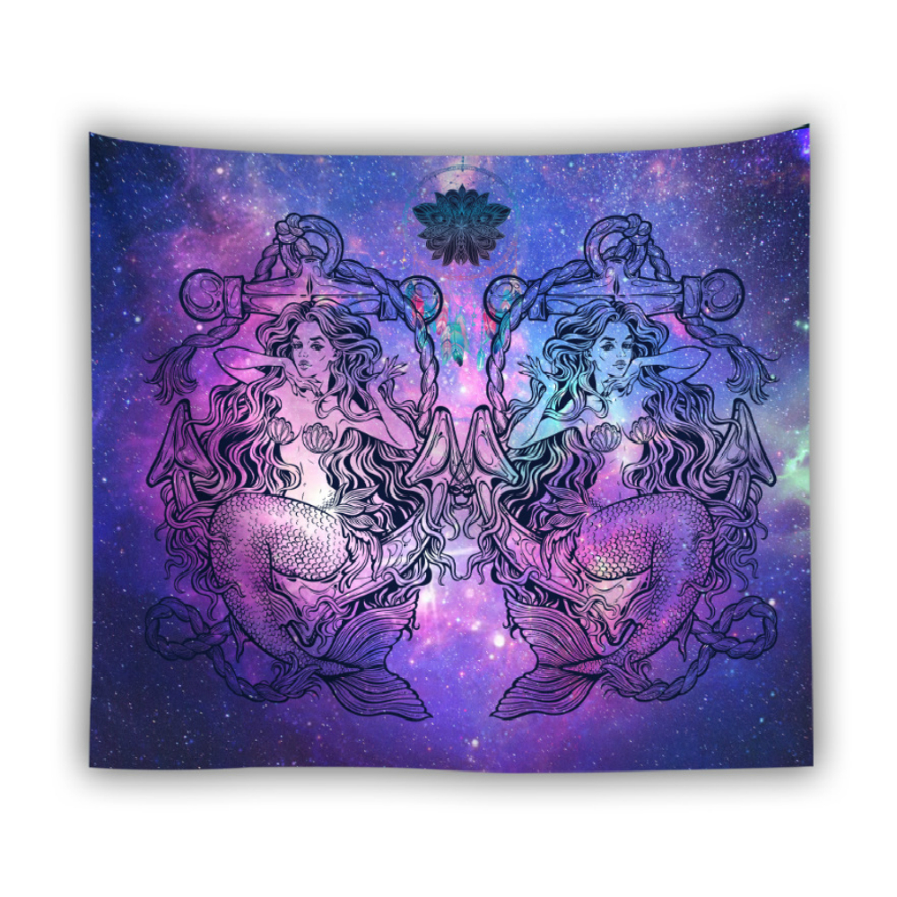 Floral Tapestry Wall Hanging Oil Painting Flower Printing Polyester Wall Cloth Tapestries Mandala Yoga Mat Home Decor Carpet in Tapestry from Home Garden